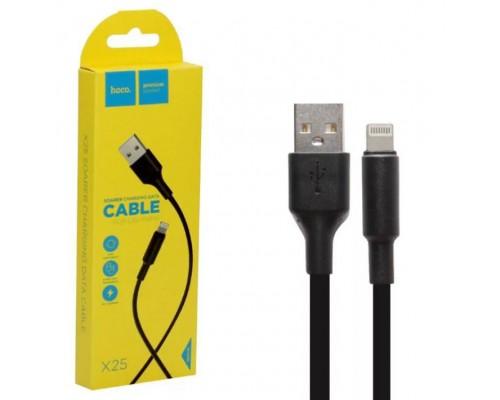 Кабель USB 8-pin Hoco X25 2А 2м чёрный