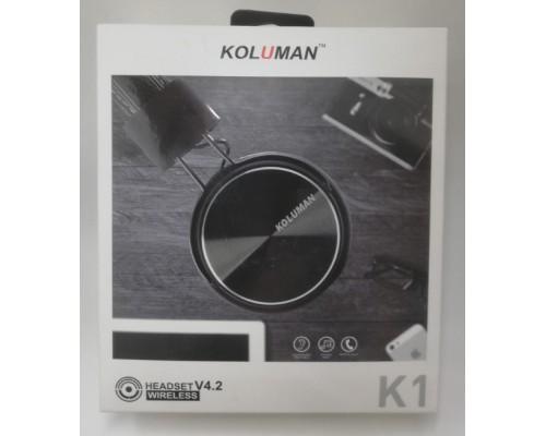 Наушники Koluman К1 полноразмерные Bluetooth с микрофоном черные