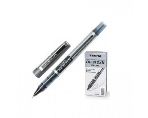 Роллер Zebra Zeb-Roller DX5 0,5мм серебристый корп.черная EX-JB4-BK