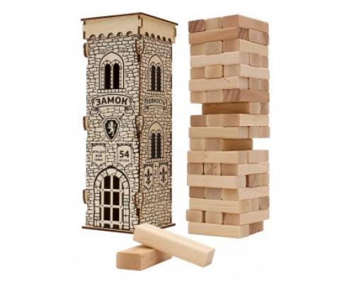 Игра Башня Замок 28,5см 54эл деревянная РК К-3865