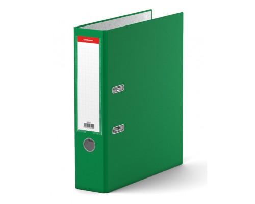 Папка-регистратор 70мм ЕК Granite зеленая собр (А4 картон/ПВХ, карман)