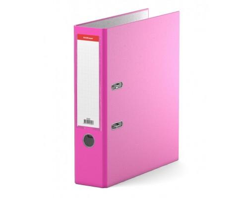 Папка-регистратор 70мм ЕК Neon розовая собр (А4 картон/ПВХ, карман)