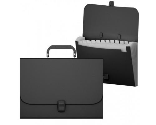 Папка-портфель ЕК Matt Classik 12отд черный 50437