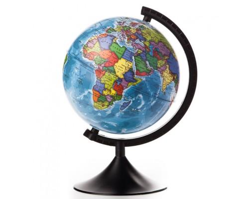 Глобус политический d=210мм классик черная пл.подставка