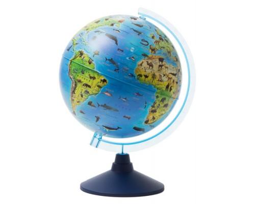Глобус зоогеографический d=210мм Евро детский