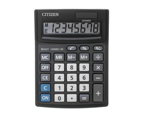 Калькулятор Citizen 8-разряд.100*136*32мм двойное питание черный