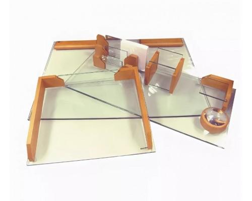 Набор настольный Protege из дерева Reformiste 6пр стекло +бук светло-коричневый 700827