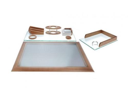 Набор настольный Protege из дерева Empereur 7пр стекло +бук светло-коричневый 890030