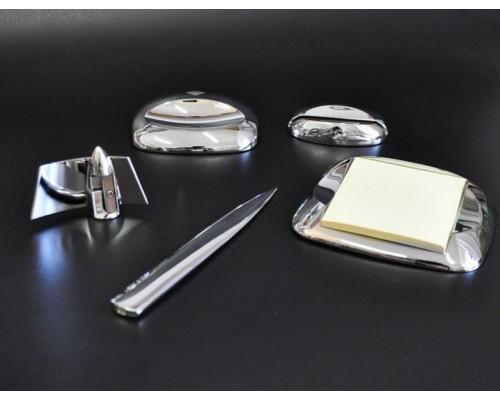 Набор настольный Protege из металла Maitre 5пр округлой формы серебристого цвета 802120