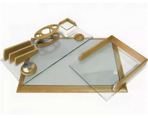 Набор настольный Protege из дерева Empereur УЦЕНККА 7пр стекло +бук светло-коричневый 890030
