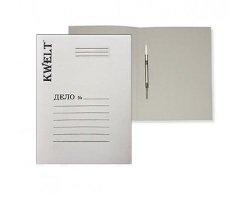 Скоросшиватель карт 220 г/м2 картон белый немелов Kwelt КР-000047