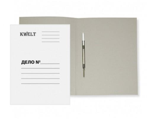 Скоросшиватель карт 320г/м белый мелов KWELT К-000036