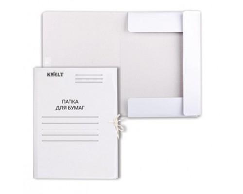 Папка для бумаг с завязками 450 г/м2 картон мелован Kwelt К-000041