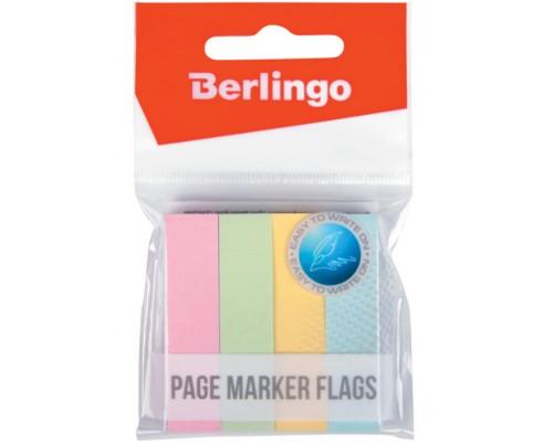Закладки Berlingo 50*12мм пастель 4цв 100л