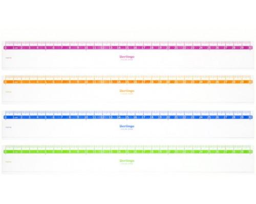 Линейка 30см Berlingo Color прозрачная PR_30130