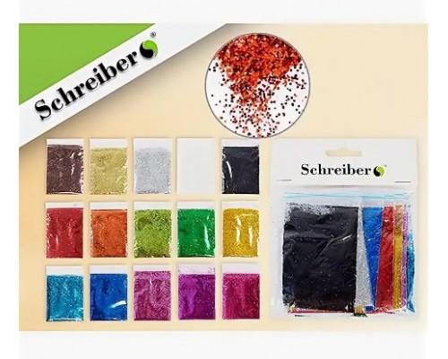 Блестки Schreiber 15цв 5г S3492-15
