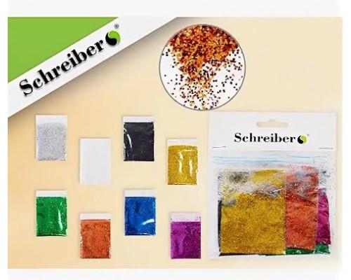 Блестки Schreiber 8цв 5г S3492-8
