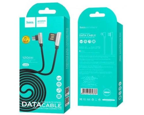 Кабель USB Micro V8 Hoco U42 2А 1.2м черный