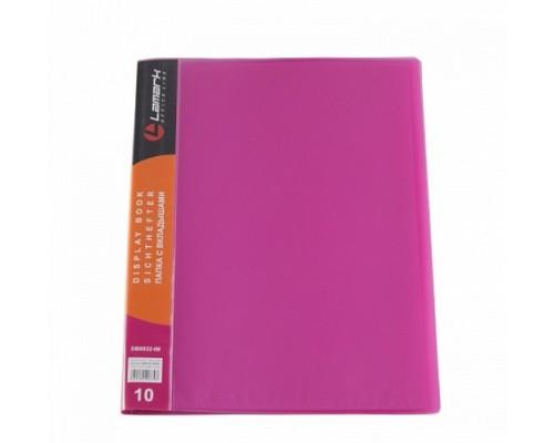 Папка 10 файлов Lamark 0,6мм неон красная с карманом DB0032-iMRD