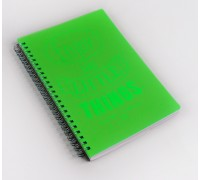 Тетрадь 80л спираль Light book Зеленый пл.обл КЭ ТПЛБ58047