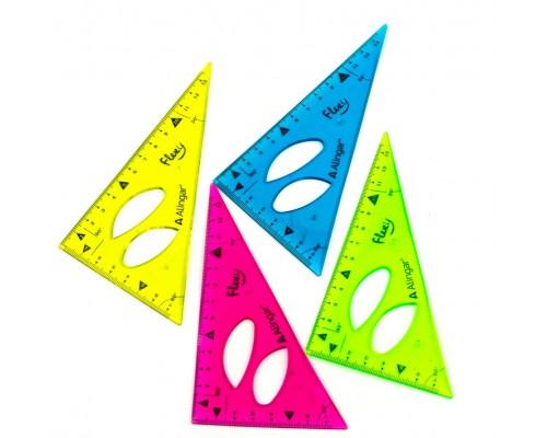 Треугольник Alingar 30° 13см пластик гибкий ассорти AL6115