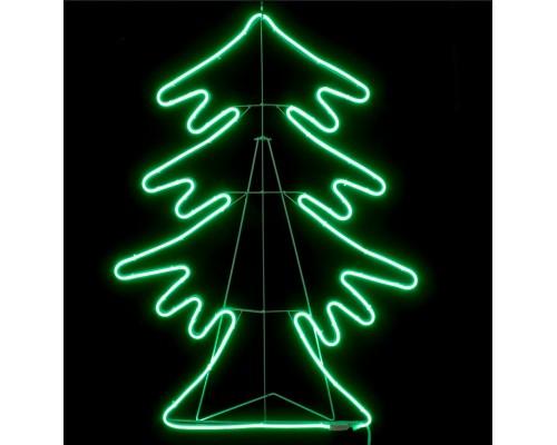 Гирлянда В Елка гибкий неон 83см зеленый IP65 549