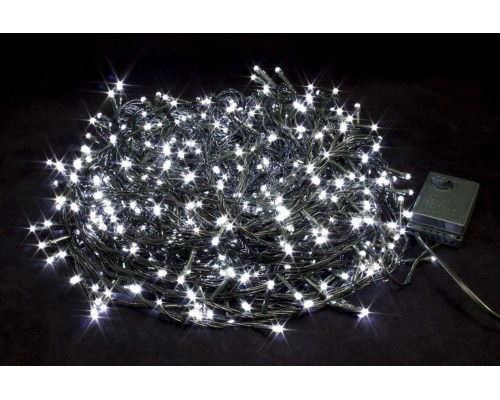 Гирлянда В 600 led шнурок белый черн.пр 42м IP20 444