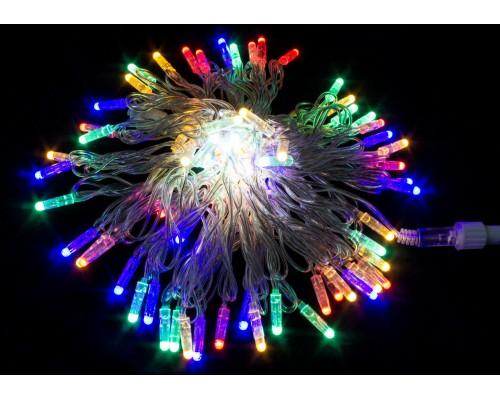 Гирлянда В 100 led шнурок мульти 10м сверх-яркие диоды улица соед.IP65 581