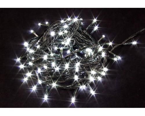 Гирлянда В 100 led шнурок белый черн.пр 7м IP20 580