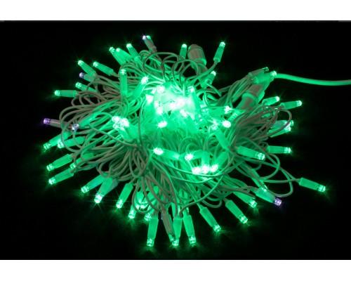 Гирлянда В 100 led шнурок зеленый flash-w бел.пр каучук уличн 10м соед. IP65 589