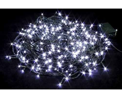 Гирлянда В 500 led шнурок белый черн.пр 35м IP20 483