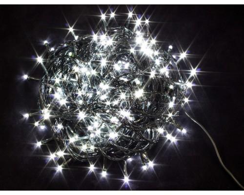 Гирлянда В 200 led шнурок белый черн.пр 14м IP20 584