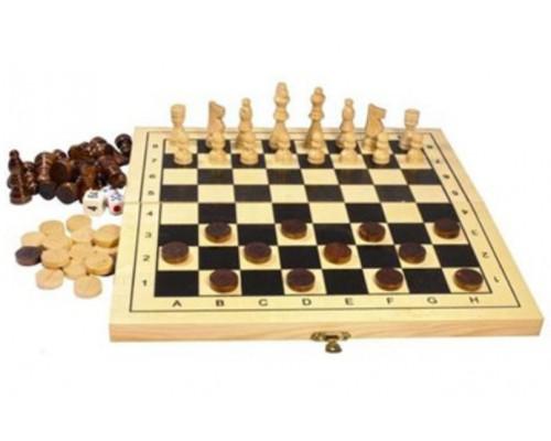 Шахматы шашки нарды 39*19,5*3,5см (дерево)