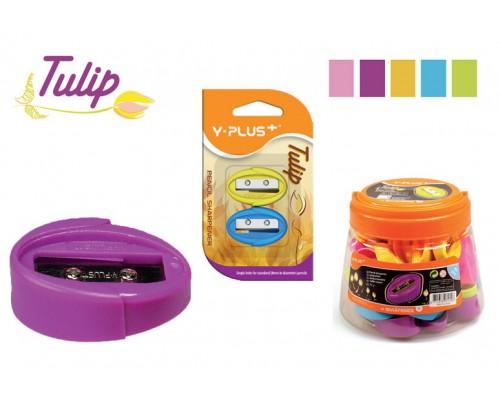 Точилка Y-Plus Tulip 1отв пластик ассорти SX120800