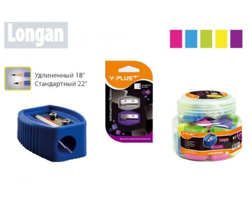 Точилка Y-Plus Longan 1отв пластик ассорти SX090500