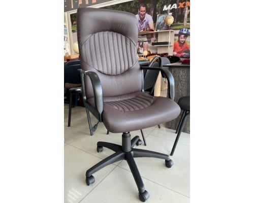 Кресло Гефест PL64 ECO-31 Темно-коричневое кожзам