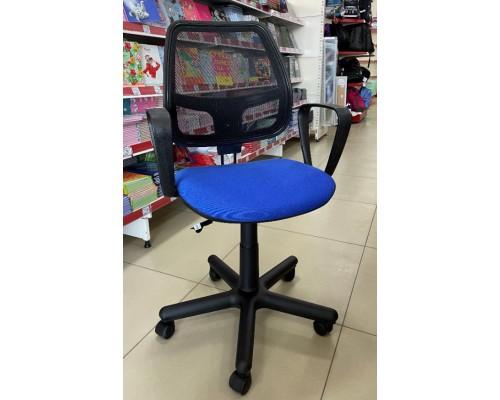 Кресло Альфа ЖТП Ц-6 ОН/5 Синее с черной сеткой