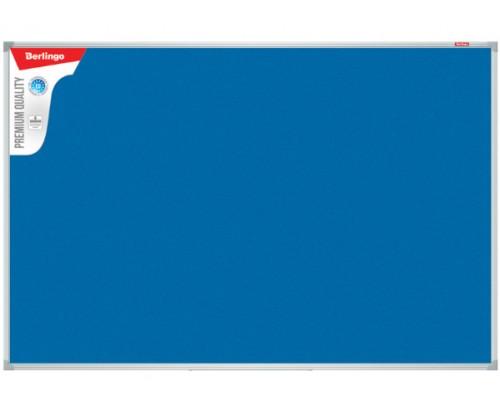 Доска фетровая 60*90см Berlingo Premium синяя алюминиевая рамка SDF_07050