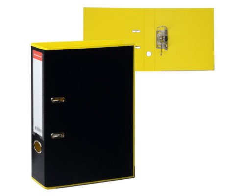 Папка-регистратор 50мм ЕК Accent желтая ламиниров сборная с карманом