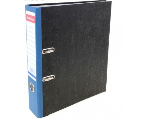 Папка-регистратор 70мм ЕК Original мрамор синий корешок собр б/кармана 408