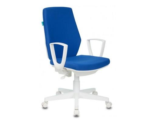 Кресло Бюрократ CH-W545/26-21 синий пластик белый
