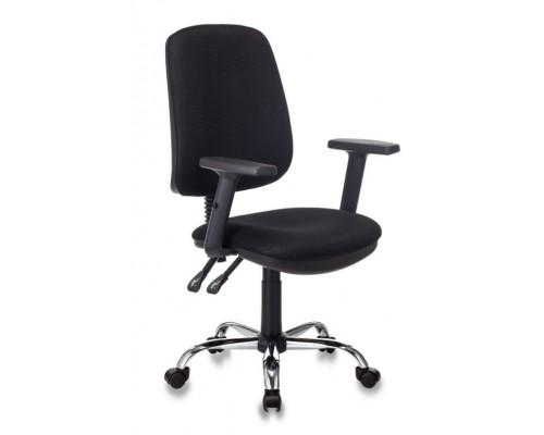 Кресло Бюрократ T-620SL Black ткань черный хром