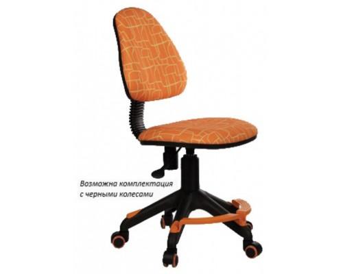 Кресло Бюрократ KD-4-F/GIRAFFE оранжевый жираф пл.подставка для ног