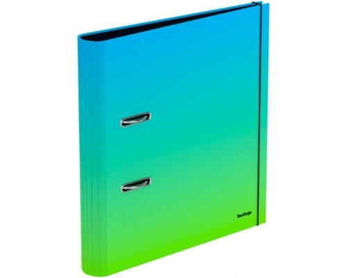 Папка-регистратор 50мм Berlingo Radiance ламиниров голубой/зеленый градиент