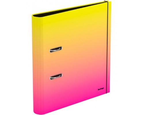 Папка-регистратор 50мм Berlingo Radiance ламиниров желтый/розовый градиент