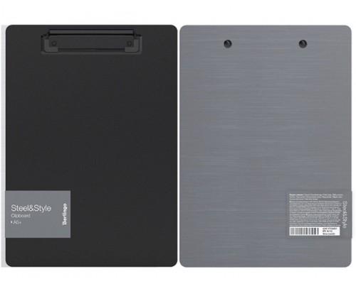 Планшет Berlingo А5+ пластик металлик серебро