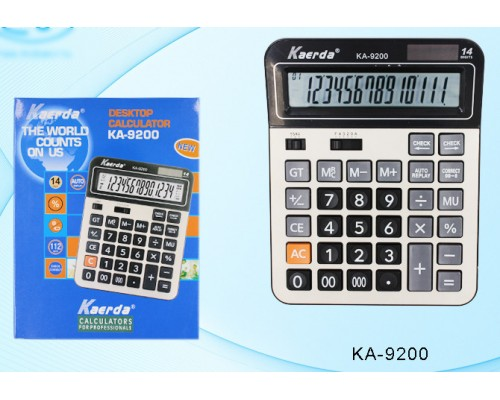 Калькулятор 14-разряд.КА-9200 20,7*16,3см