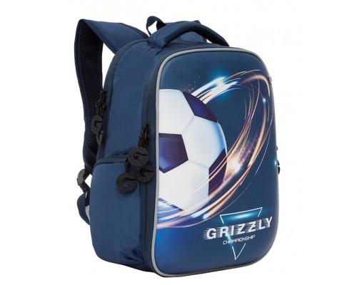 Рюкзак Grizzly RB-153-3/1 26*36*17см 2отд 2кар синий