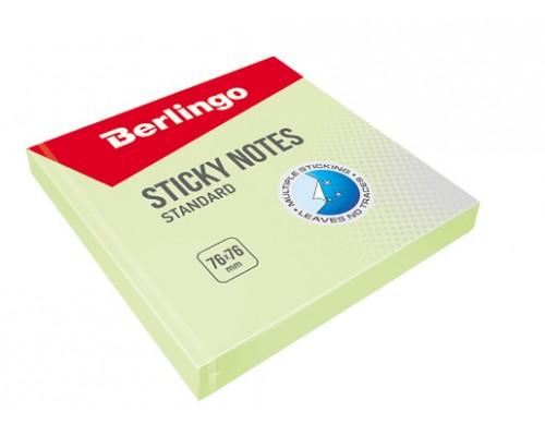 Бумага с клеевым краем Berlingo 76*76 100л Стандарт зеленый HN7676SG