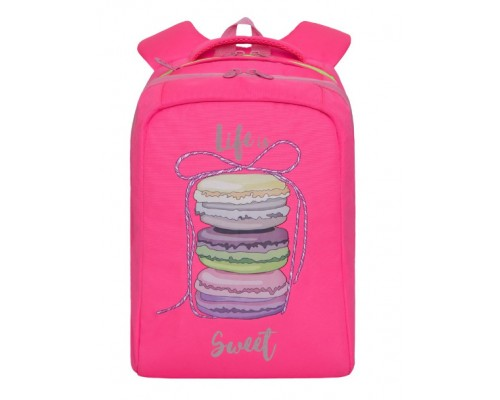 Рюкзак Grizzly RG-066-1/4 26*39*17см 2отд ярко-розовый